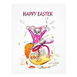 Happy Easter Honey Bunny fun pink Greeting Card Letterhead