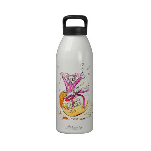 Happy Easter Honey Bunny fun pink Greeting Card Drinking Bottle