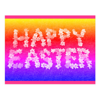 Happy Easter in daffodils rainbow photograph Postcard