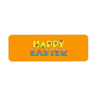 Happy Easter Return Address Label
