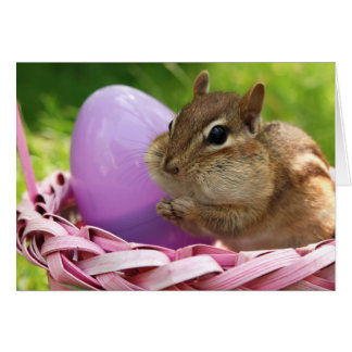 Happy Easter Little Chipmunk Card