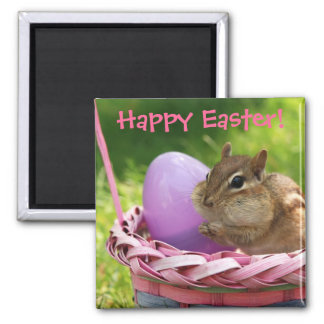 Happy Easter Little Chipmunk Magnet