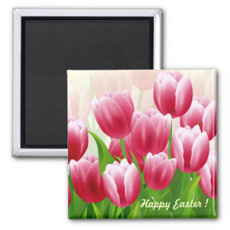 Happy Easter ! Square Magnet