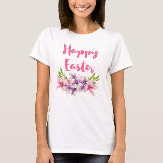 Happy Easter Magnoilia Bouquet Floral Watercolor T-Shirt