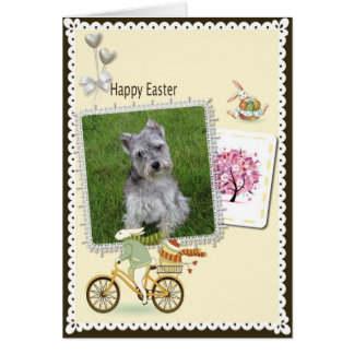 Happy Easter Miniature Schnauzers Card