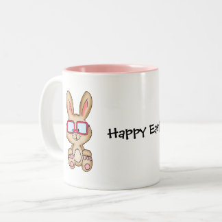Happy Easter Mug with cute Bunny Drawing