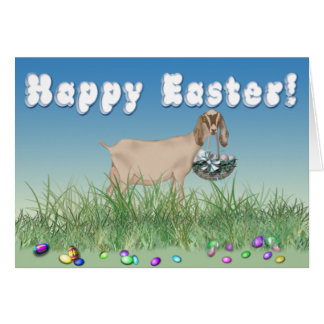 Happy Easter Nubian Goat Card