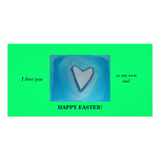 HAPPY EASTER/OWN SOUL CUSTOM PHOTO CARD