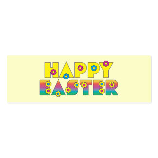 Happy Easter Pack Of Skinny Business Cards