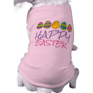 Happy Easter Painted Egg Hunt Eggs Dog Pet Tee