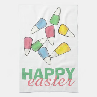 Happy Easter Pastel Candy Corn Candycorn Towel