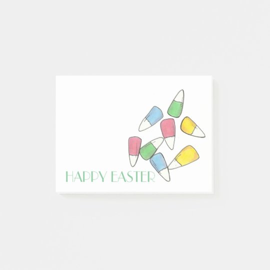 Happy Easter Pastel Candy Corn Post Its Post-it® Notes