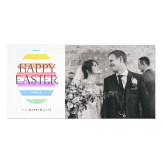 Happy Easter Pastel Easter Egg Spring Photo Card