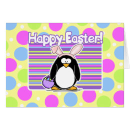 Easter penguin gifts on zazzle ca happy easter penguin card negle Image collections