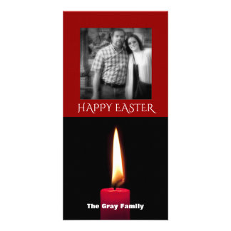 Happy Easter Photo | Candle Flame Photo Card