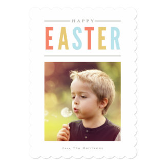 "Happy Easter Photo Card Personalized 5"" X 7"" Invitation Card"