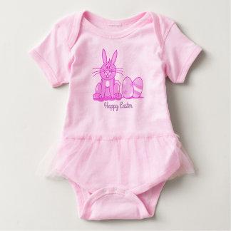 Happy Easter Pink Bunny Bodysuit by Julie Everhart