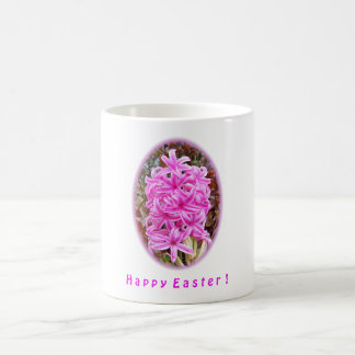 Happy Easter Pink Hyacinth Shirts & Gifts Coffee Mugs