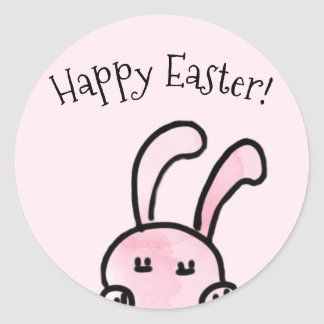 Happy Easter Pink Stickers