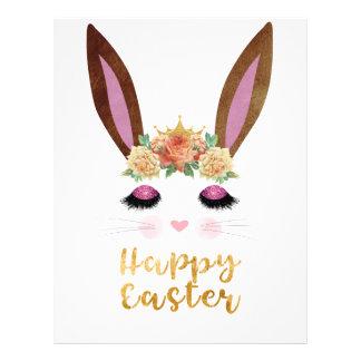 Happy Easter Princess Bunny Face Letterhead