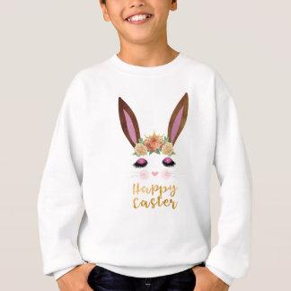 Happy Easter Princess Bunny Face Sweatshirt