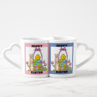 Happy Easter Rabbit Heart MUGS