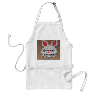 Happy Easter Rabbit White APRON
