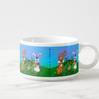 Happy Easter! Rabbit with Bunny and Chick Bowl