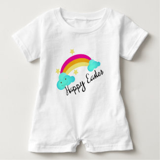 Happy Easter Rainbow Little Girls Baby Romper