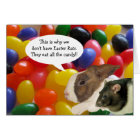 Happy Easter Rat Greeting Card