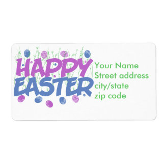 Happy Easter Shipping Label