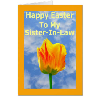 Happy Easter Sister-In-Law Greeting Card