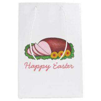 Happy Easter Sliced Glazed Ham Foodie Gift Bag