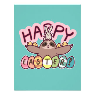 Happy Easter Sloth Letterhead