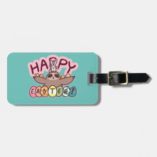Happy Easter Sloth Luggage Tag
