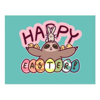 Happy Easter Sloth Postcard