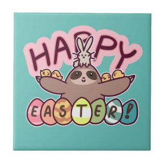 Happy Easter Sloth Tile