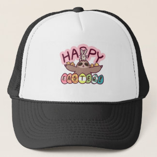 Happy Easter Sloth Trucker Hat