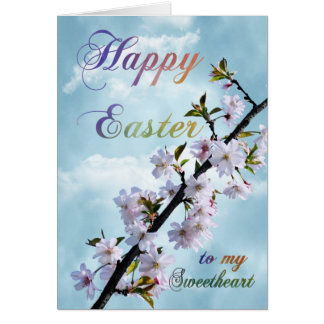 Happy Easter Spring Blossom for Sweetheart Card
