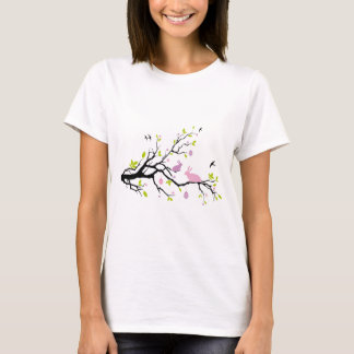 Happy Easter, spring tree with pink bunnies T-Shirt