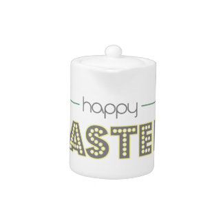 happy easter spring yellow mint green simple