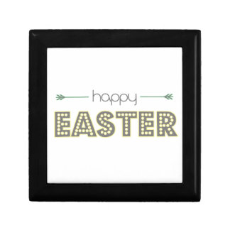 happy easter spring yellow mint green simple gift box
