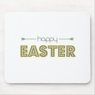 happy easter spring yellow mint green simple mouse pad