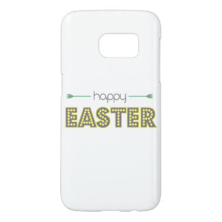 happy easter spring yellow mint green simple samsung galaxy s7 case
