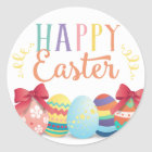 Happy Easter Sticker, Egg Hunt Favour Tags