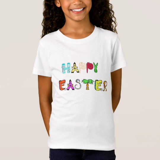 Happy Easter t-shirt design kids animal design tee