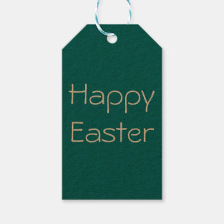 Happy easter tag, gift tag, easter gift tag