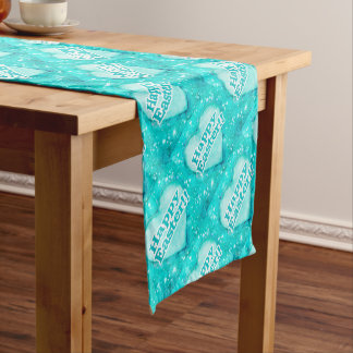 Happy Easter Theme Graphic Short Table Runner