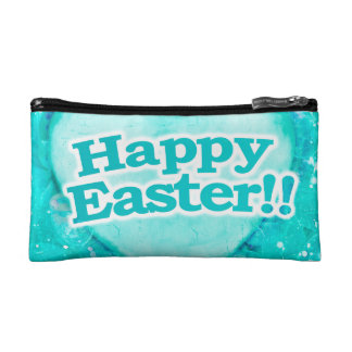 Happy Easter Theme Makeup Bags