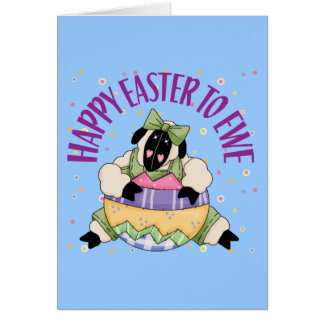 Happy Easter to Ewe Card